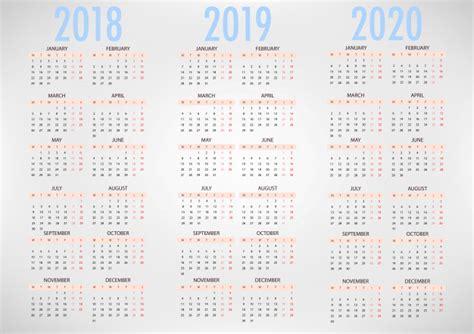 calendario plantilla simple del vector