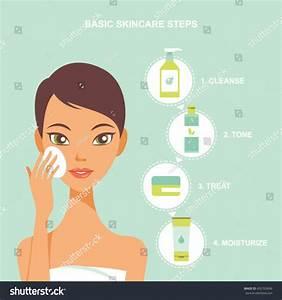 Skin Care Beauty Regimen Steps Vector Stock Vector ...