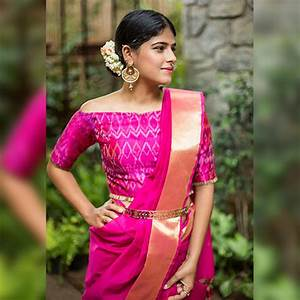Pink Sleeveless Saree Blouse Best Blouse Design 2018