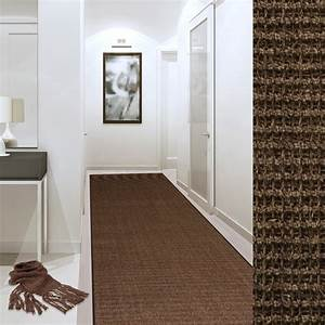 tapis sisal sur mesure made in germany marron tapistarfr With tapis couloir avec canapé d angle made
