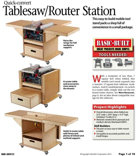 quick convert tablesaw router station woodworking plan woodworking plans learn woodworking