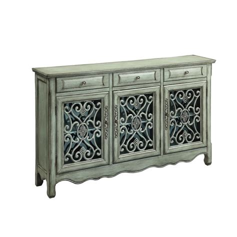 Green Sideboard by Coaster Traditional Accent Sideboard In Antique Green 950357