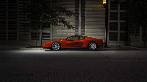 car red cars sports car ferrari ferrari testarossa