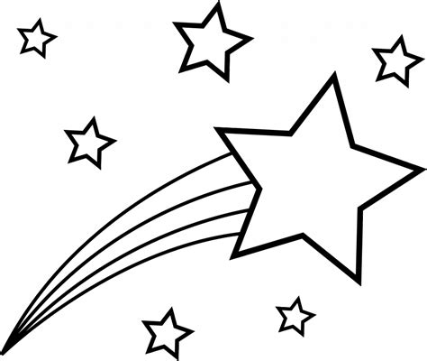shooting star coloring pages coloring home