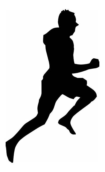 Running Silhouette Jumping Dancing Clip Clipart Vector
