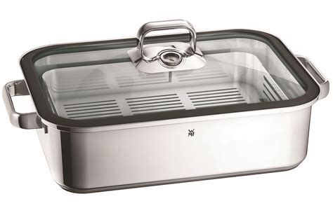 wmf vitalis stovetop steamer roaster  silicone seal  quart cutlery