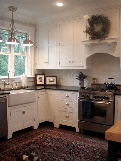 White Inset Cabinets by White Inset Cabinet Bay House Ideas Inside Pinterest