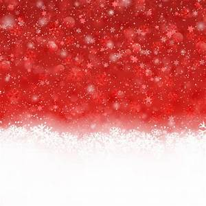 Red and bokeh christmas background with snow Vector   Free ...