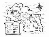 Coloring Treasure Pirate Map Popular sketch template