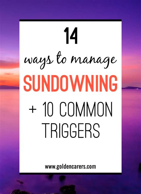 sundowning symptoms triggers strategies