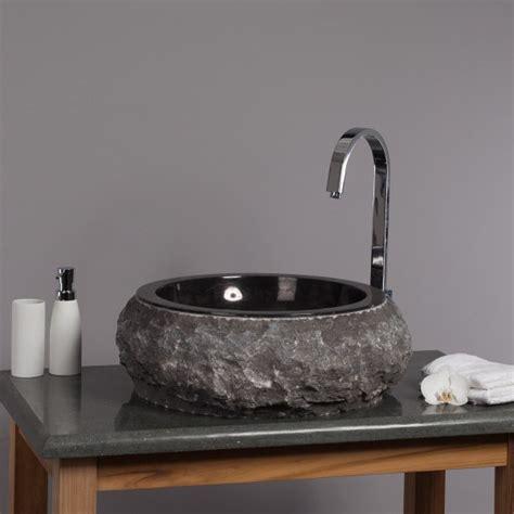 Waschbecken Rund Stein by Marmor Waschbecken Donat 45 Cm Rund Schwarz