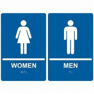 Printable restroom signs clipartsco for Men and women bathroom symbols