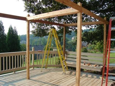 Einfache Pergola Bauen by How To Build A Simple Pergola Pergola Gazebo Ideas