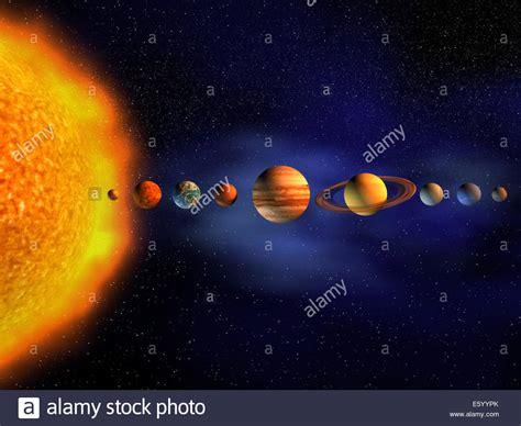 Diagram Planets Solar System Render Stock Photo