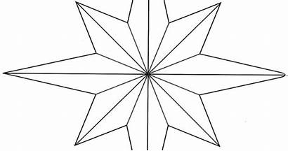 Star Pointed Eight Coloring Wicca Sacredwicca
