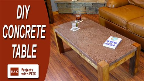 how to make a concrete table top how to make a concrete table polished concrete top with