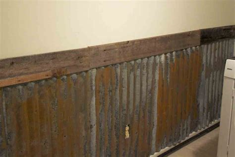 Tin Wainscoting Panels by How To Rust Galvanized Metal The B Farm Farm Laundry Room