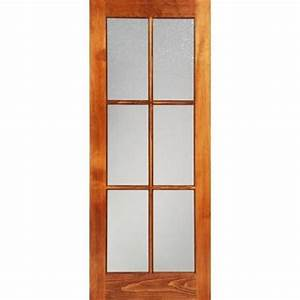 milette 30x80 interior 6 lite french door clear pine With home depot interior french door