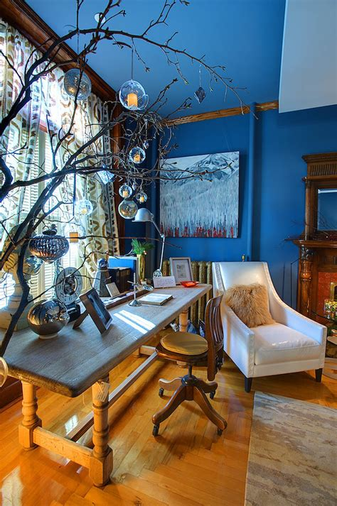 Office Tree Decorating Ideas by 31 Great Eclectic Home Office Design Ideas