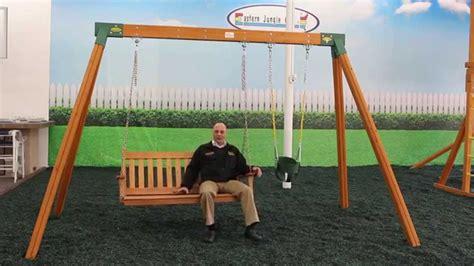 Swing For Backyard Adults - cedar wooden bench swing set
