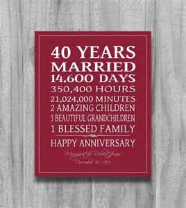 40th wedding anniversary gift ideas 25 best ideas about ruby wedding anniversary gifts on 40th wedding anniversary gift