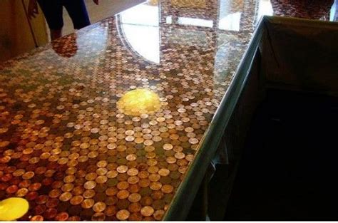 kitchen floor made of pennies diy countertop must this for the home 8070