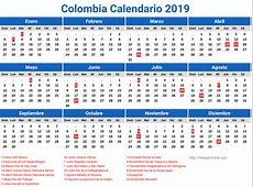 Calendario 2019 Colombia Dias Festivos newspicturesxyz