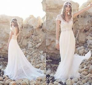 Aliexpresscom buy boho beach wedding dress 2016 beaded for Bohemian beach style wedding dresses