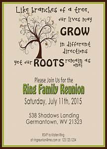 Family Reunion Invite - Swirly Tree - PRINTABLE DIGITAL ...