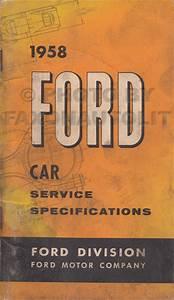 1958 Ford Car And Ranchero Wiring Diagram Manual