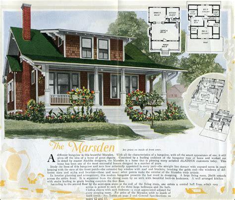 aladdin homes kit houses  craftsman style bungalow marsden shed dormer