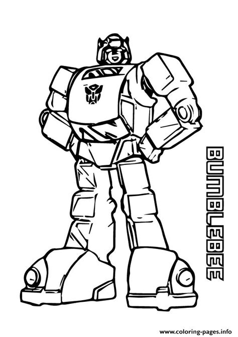 transformers bumblebee  coloring pages printable