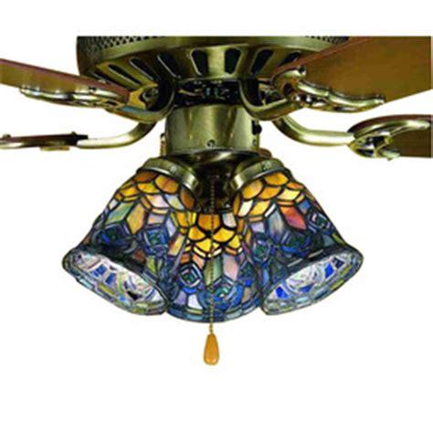 tiffany l shade kits shop meyda tiffany 1 light mahogany bronze ceiling fan