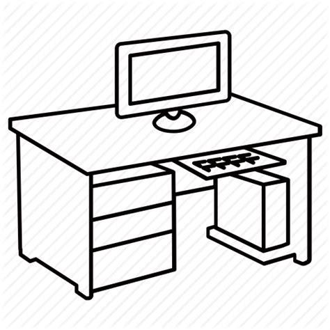 computer desk drawing  getdrawingscom