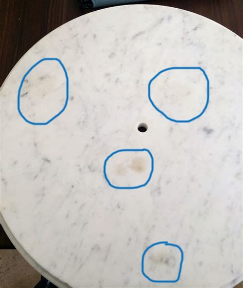 removing stains from marble table the impatient gardener how to salvage a stained marble