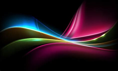 colored light on dark background vector illustration free