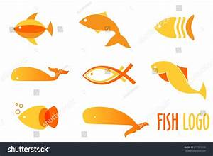 Vector Illustration Of Warm Colors Golden Fishes. Abstract ...