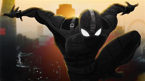 spider man   home stealth suit wallpaper  ultra
