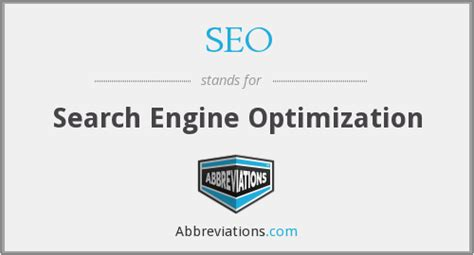 Seo Stands For by What Does Seo Stand For
