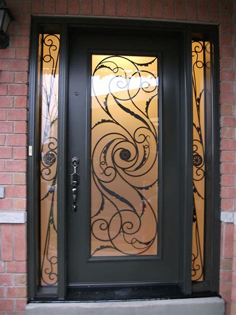 fiberglass doors front entry doors wrought iron single