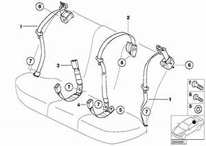 Bmw 325i Upper Belt Rear  Safety  Electrical  System