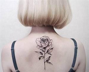 Dessin D Hirondelle Pour Tatouage : tatouage rose femme symboliques styles et tendances ~ Melissatoandfro.com Idées de Décoration