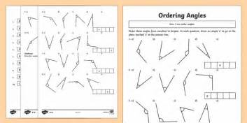 year 4 ordering angles differentiated worksheet activity