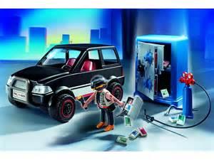 playmobil voiture et cambrioleur de coffre fort