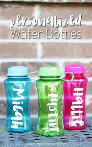 20 cool water bottles to diy and carry around all week long for How to personalize water bottles diy