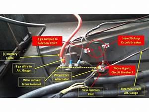 1965 F-100 Alt Gauge 70 Amp Circuit Breaker