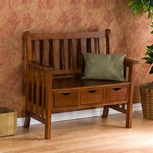 3-drawer, oak, country, bench