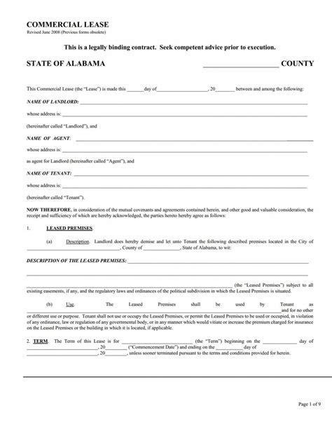 modele bail commercial gratuit 13 commercial lease agreement templates excel pdf formats