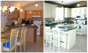 Painted Kitchen Cabinets Before And After Grey by Painted Oak Kitchen Cabinets Painted White Cathedral Style Before And After B