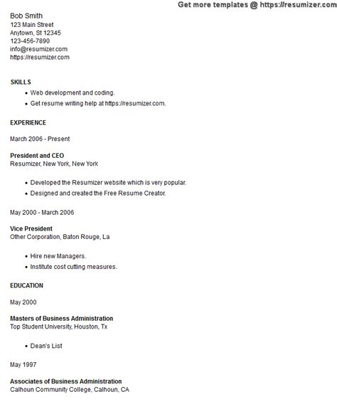Top Resume Creator by Resume Style 11 Minimal Education Problems